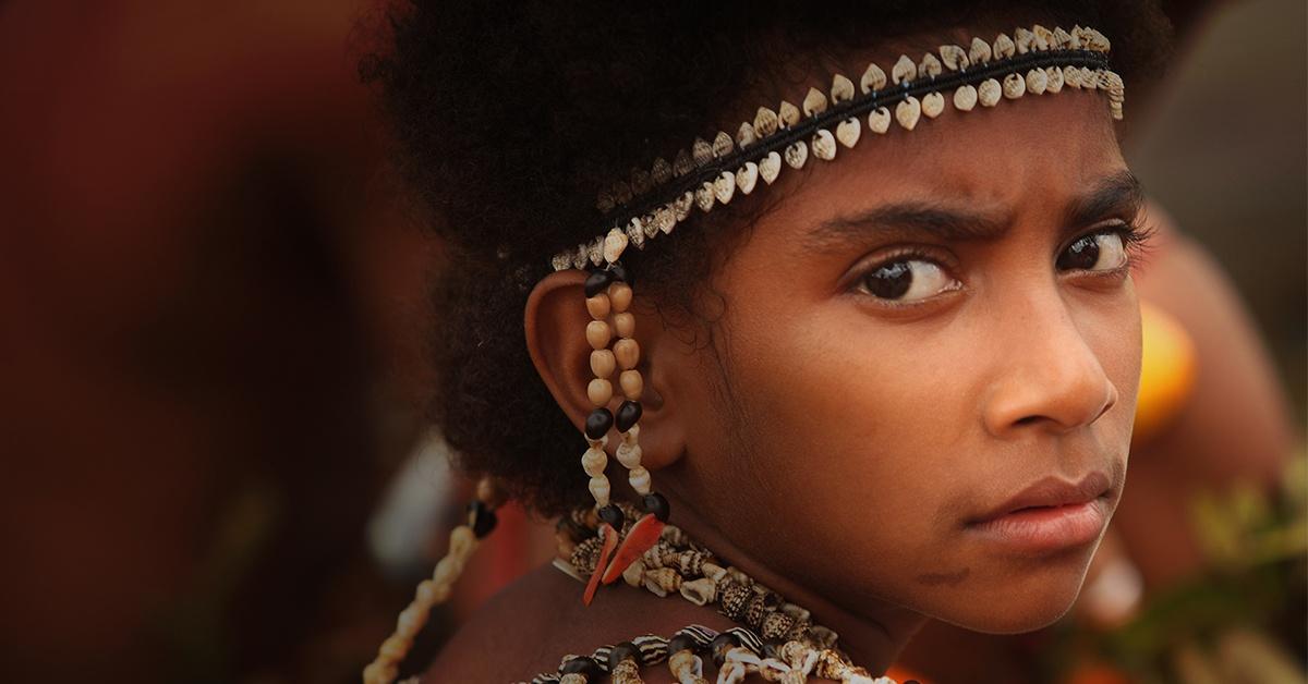 Girl in Papua New Guinea